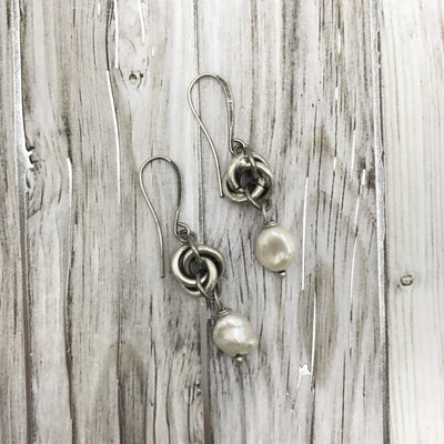 Pearl and Knot Earrings