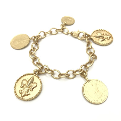 gold chain coin bracelet
