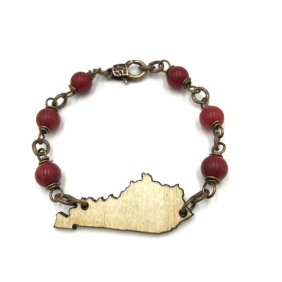 red coral wood kentucky bracelet