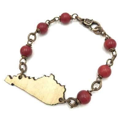 Bourbon and Red Bracelet