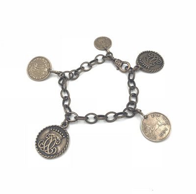 Horse Coin Layering Bracelet