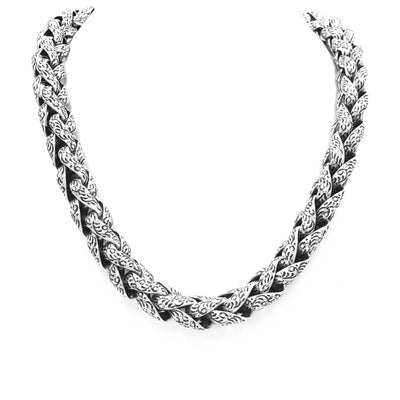 sterling silver steel statement necklace
