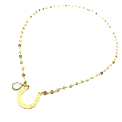 vermeil gold horseshoe necklace