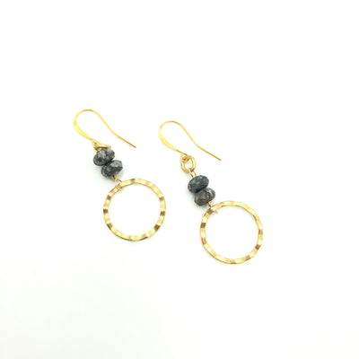 Agate Gold Wave Earrings