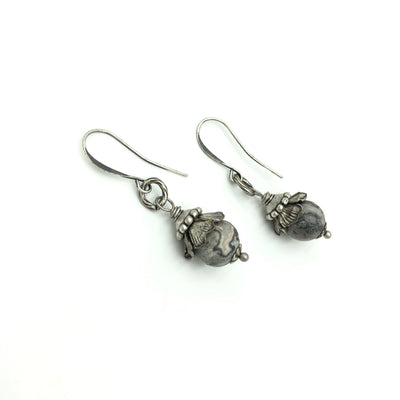 Agate Silver Designer Earrings