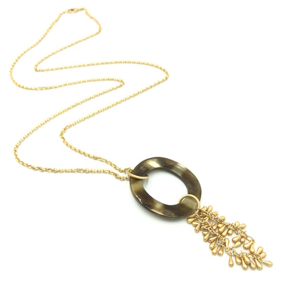 Horn Gold Oval Interchangeable Necklace
