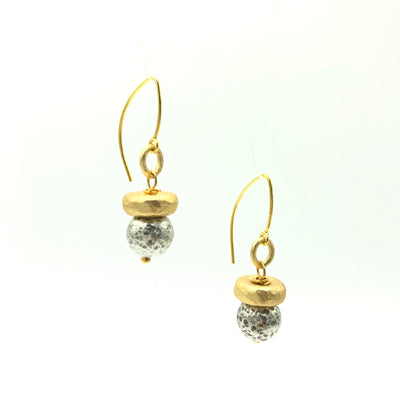 Mixed Gold Silver Modern Earrings