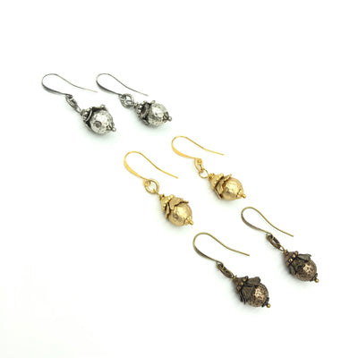 Hammered Ball Designer Earrings