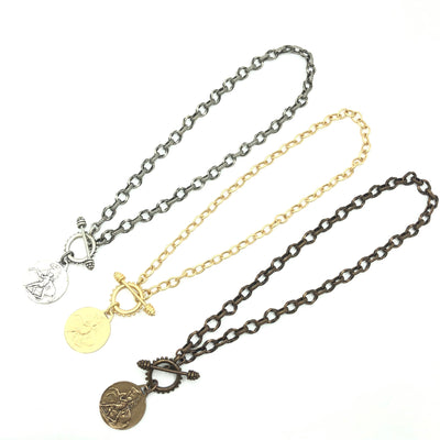 Horse Coin Layering Necklace