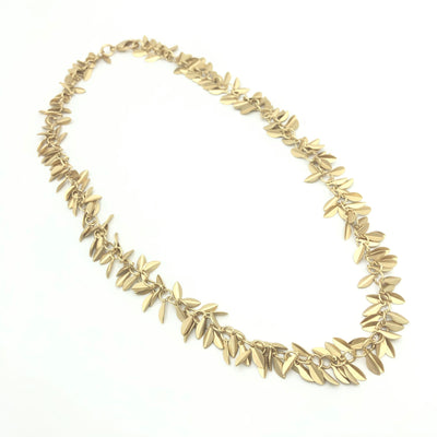 Pearl Gold Leaf Lariat Four Way Necklace