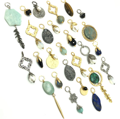 Interchangeable Gemstone & Pearl Pendants