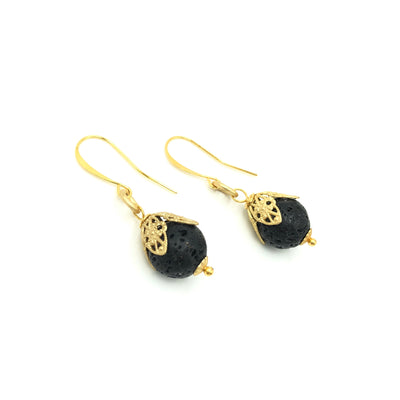 Lava Gold Filigree Earrings