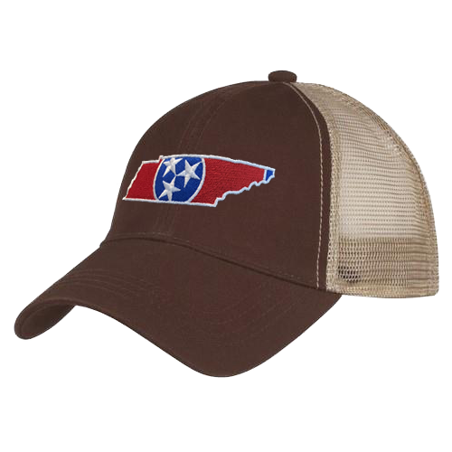 dde1b2e0798 Tri-Star Red State Outline Trucker Hat - My Tennessee