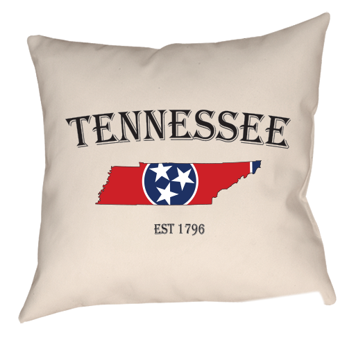 Tennessee Red State Flag Single Sided Throw Pillow My Tennessee