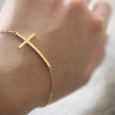 Sideways Cross Bracelet - Bean Concept - Etsy