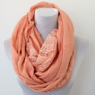 Floral Lace Infinity Scarf - Bean Concept - Etsy