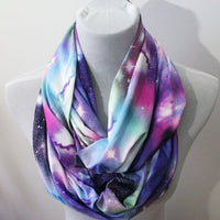 Pink Galaxy Jersey Infinity Scarf - Bean Concept - Etsy