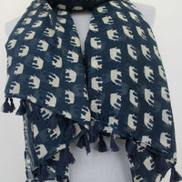 Little Elephant with Tassels Scarf - Bean Concept - Etsy