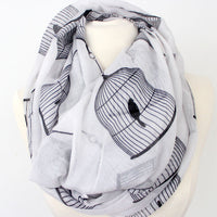 Bird in Cage Infinity Scarf - Bean Concept - Etsy