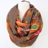 Paisley Infinity Scarf - Bean Concept - Etsy