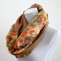 VINTAGE FLORAL INFINITY SCARF - Bean Concept - Etsy