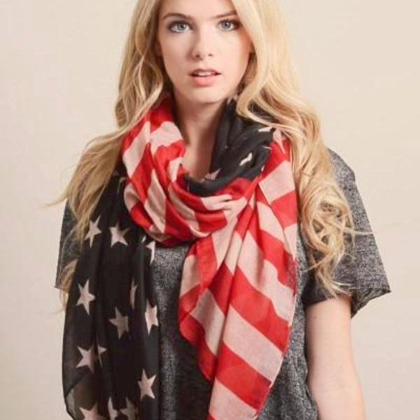 Large Vintage American Flag Scarf - Bean Concept