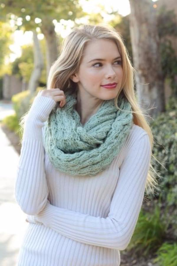 Cozy and Soft Knitted Infinity Scarf - Bean Concept - Etsy