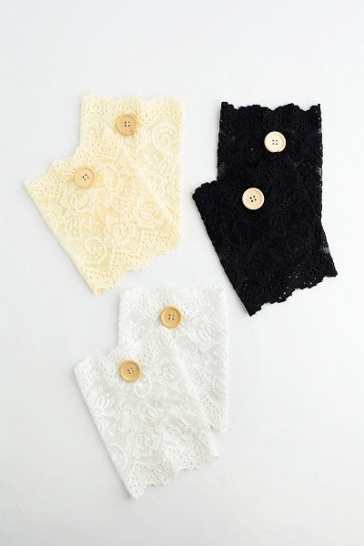 Soft Lace Boot Cuffs with Buttons - Bean Concept - Etsy