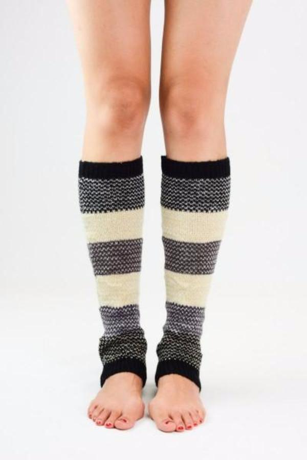 Cozy Knitted Colorblock Leg Warmers - Bean Concept - Etsy