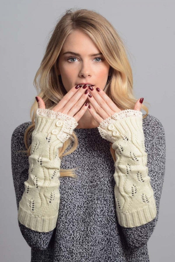 Cozy Lace Hand Warmers Gloves - Bean Concept - Etsy