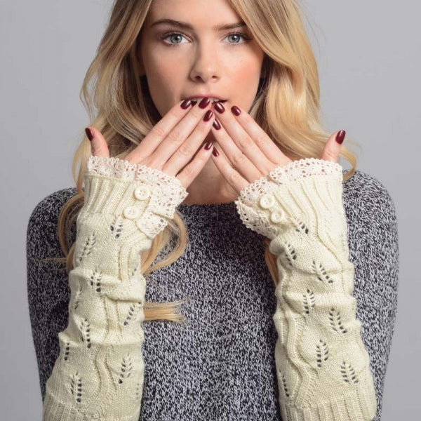 Cozy Lace Hand Warmers Gloves - Bean Concept