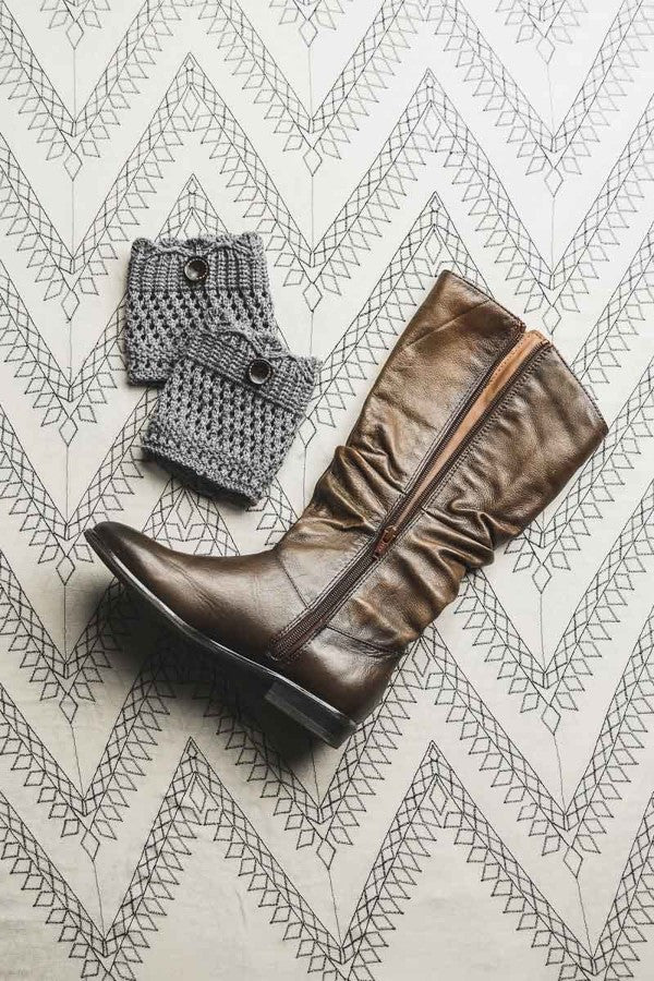 Knitted Boot Cuffs with Buttons - Bean Concept - Etsy