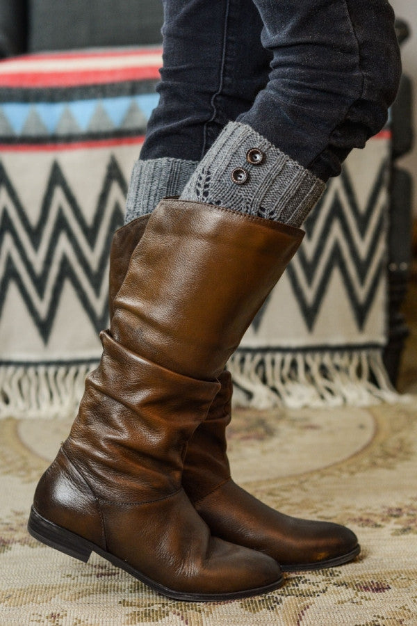Cozy Black Leg Warmers with Buttons