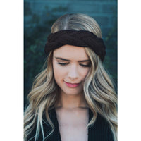 Brown Cable Headband - Bean Concept - Etsy