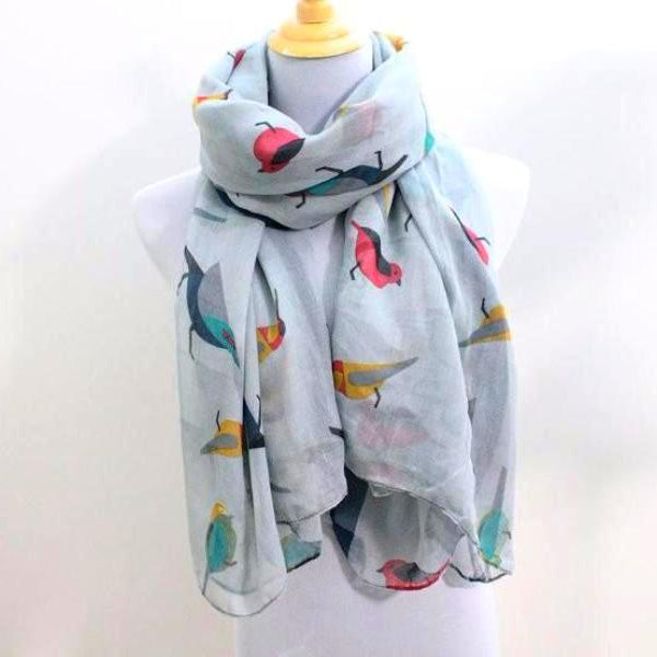 Bird Scarf - Gray - Bean Concept