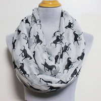 Horses Infinity Scarf - Bean Concept - Etsy