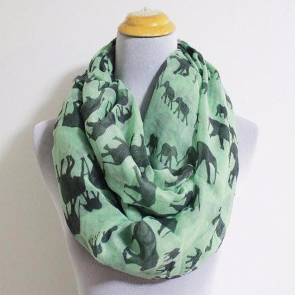 Elephant Infinity Scarf - Mint Green - Bean Concept