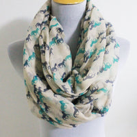Mint Green Mini Horse Infinity Scarf - Bean Concept - Etsy