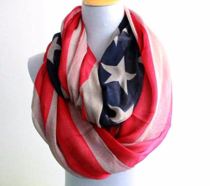 American Flag Infinity Scarf - Bean Concept - Etsy