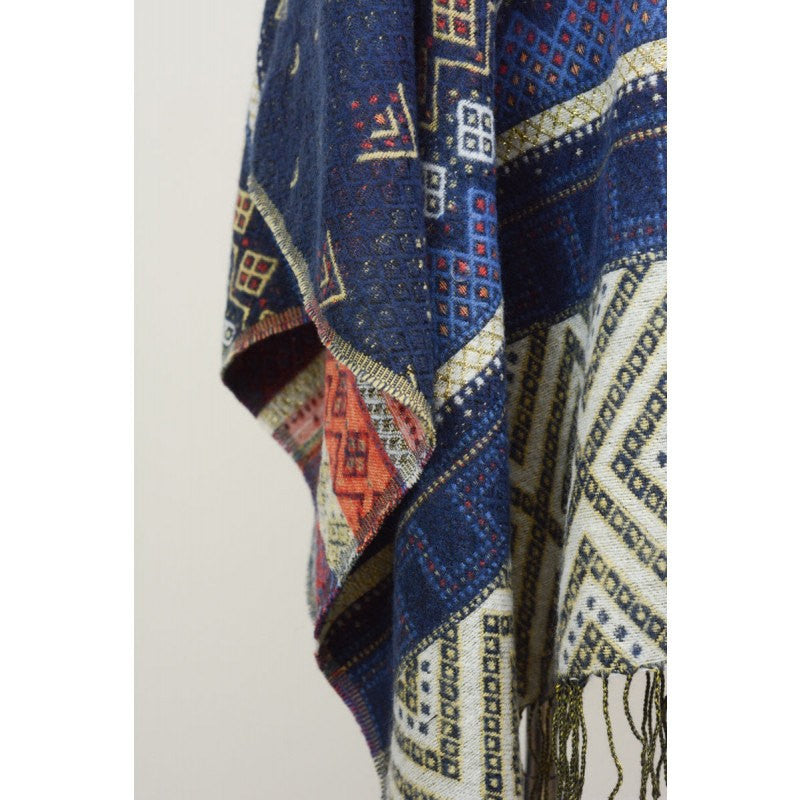 Bohemian Oversized Blanket Scarf with Fringe - Bean Concept - Etsy