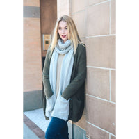 Gray Knit Scarf With Pockets - Bean Concept - Etsy
