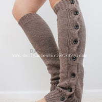 mocha brown womens leg warmers - Bean Concept - Etsy