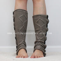 brown womens leg warmers - Bean Concept - Etsy