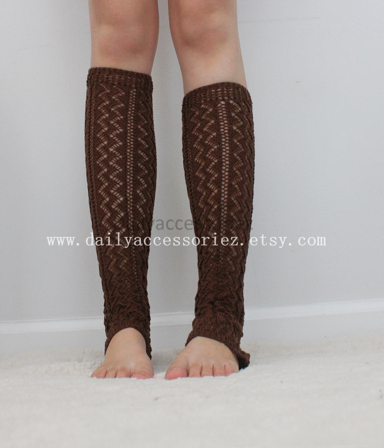 Brown leg warmers - Bean Concept - Etsy