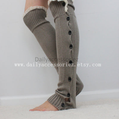 gray womens leg warmers - Bean Concept - Etsy