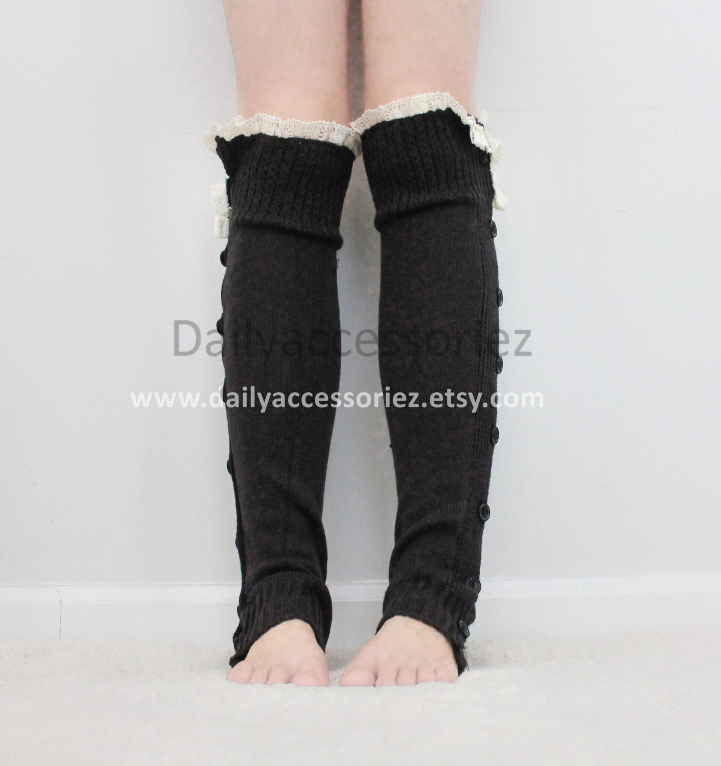 black womens leg warmers - Bean Concept - Etsy