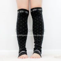 gray polka dot womens leg warmers - Bean Concept - Etsy