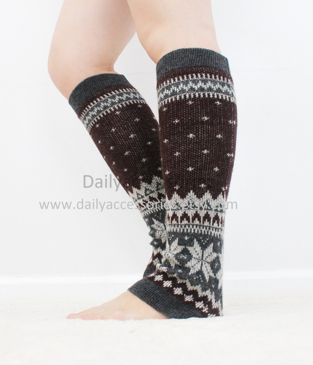 Christmas womens leg warmers - Bean Concept - Etsy