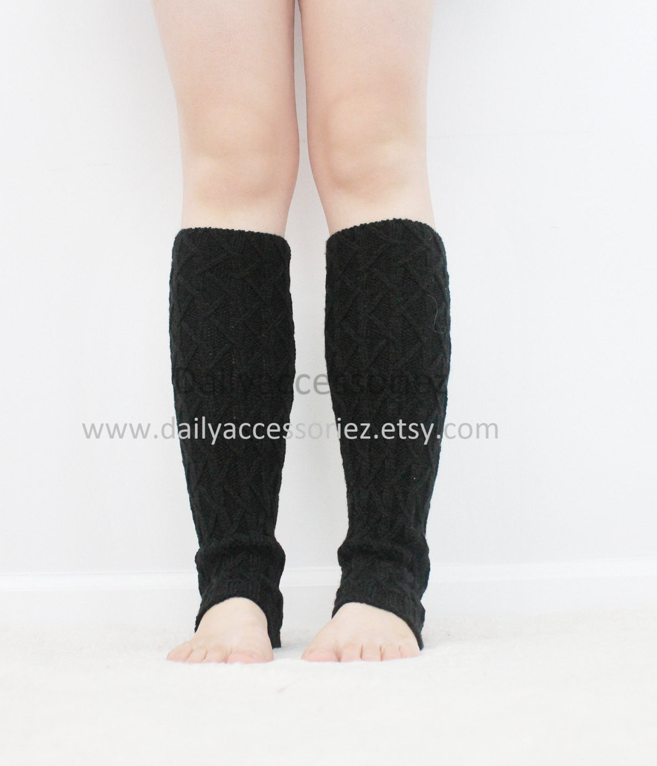 Cable knit womens leg warmers - Bean Concept - Etsy