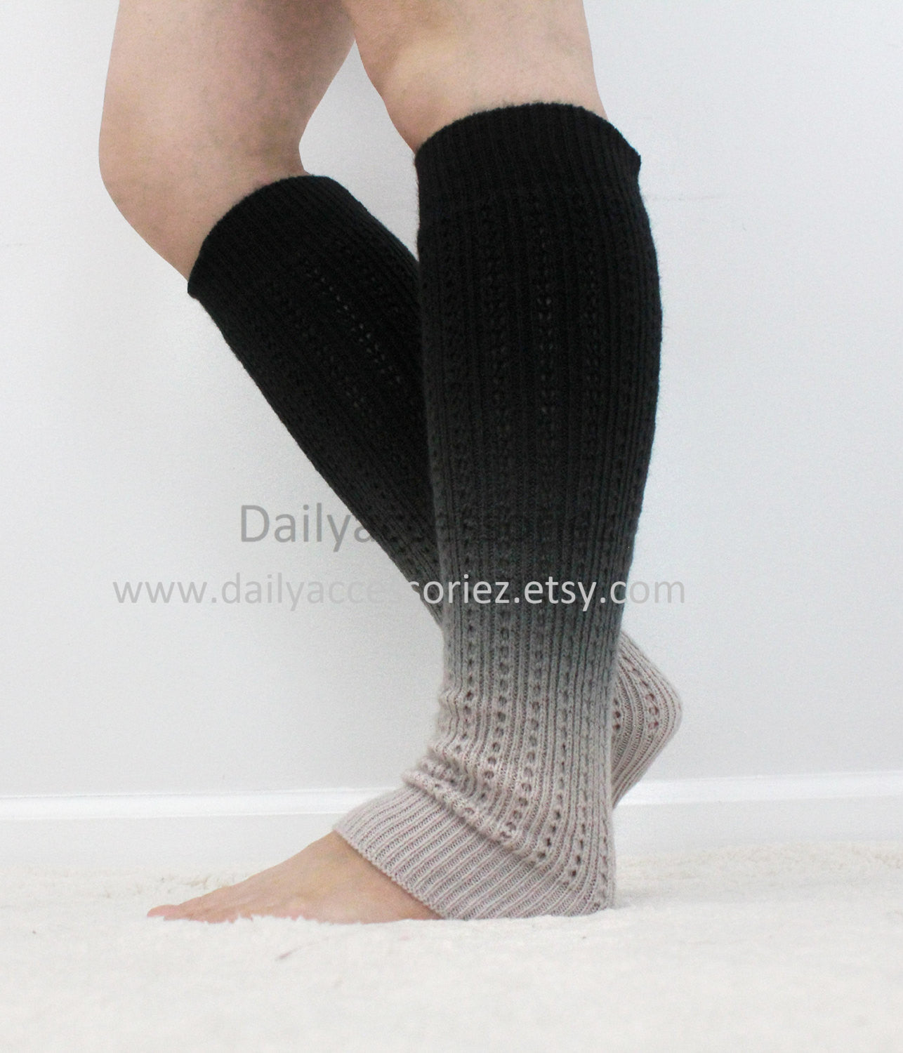 Ombre color womens leg warmers - Bean Concept - Etsy